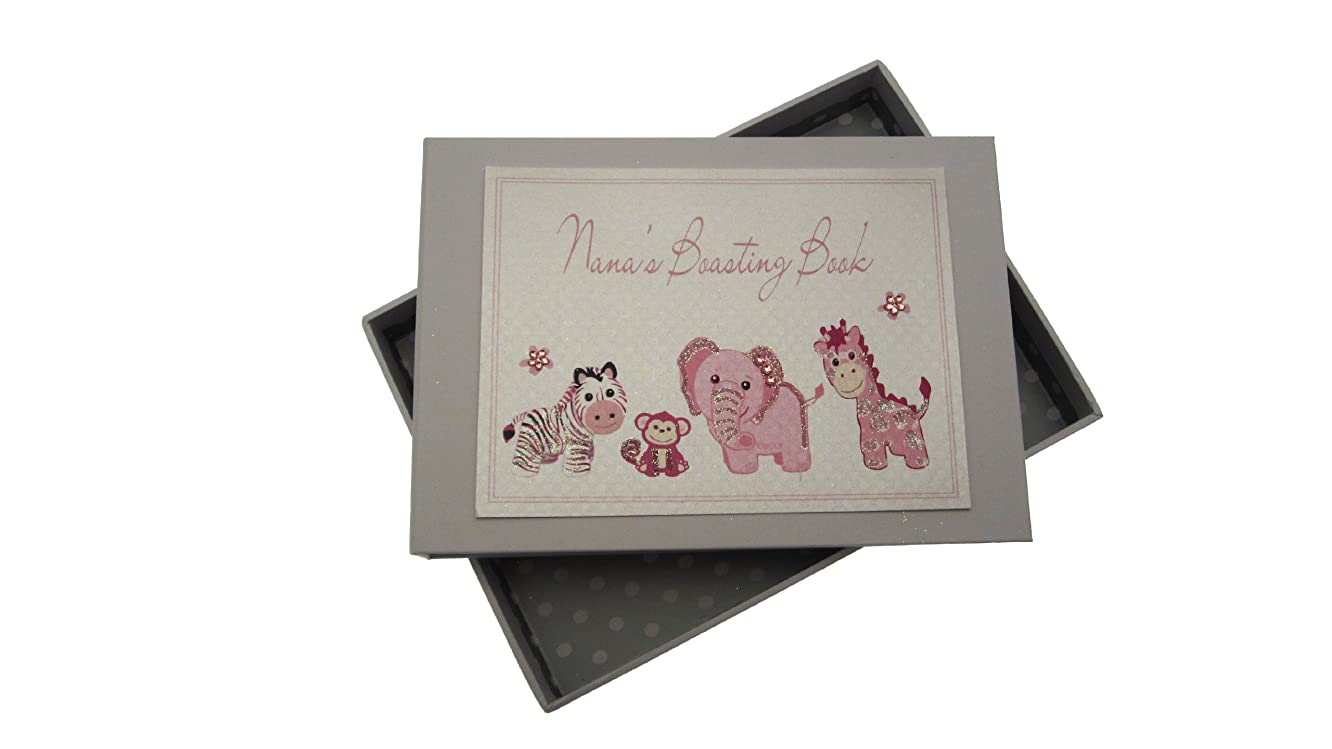 White Cotton Cards Nana's Boasting Book Tiny Photo Album Toys Range (Pink)