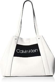 Calvin Klein Coleen Vegan Leather Novelty Logo Tote