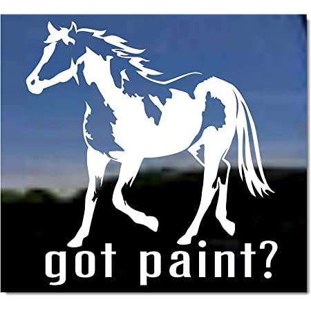 American Paint Pinto Horse White Vinyl Decal Sticker