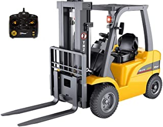 Top Race Jumbo Remote Control Forklift 13 Inch Tall, 8 Channel Full Functional Professional RC Forklift Construction Toys,...