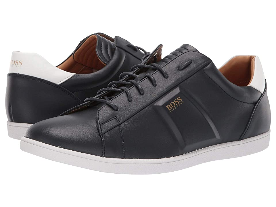 BOSS Hugo Boss Rumba Leather Sneaker By BOSS (Dark Blue) Men