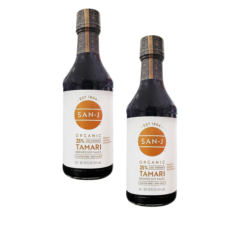 San-J Organic Gluten Popular High material Free Tamari Soy Reduced Veg Sodium Sauce
