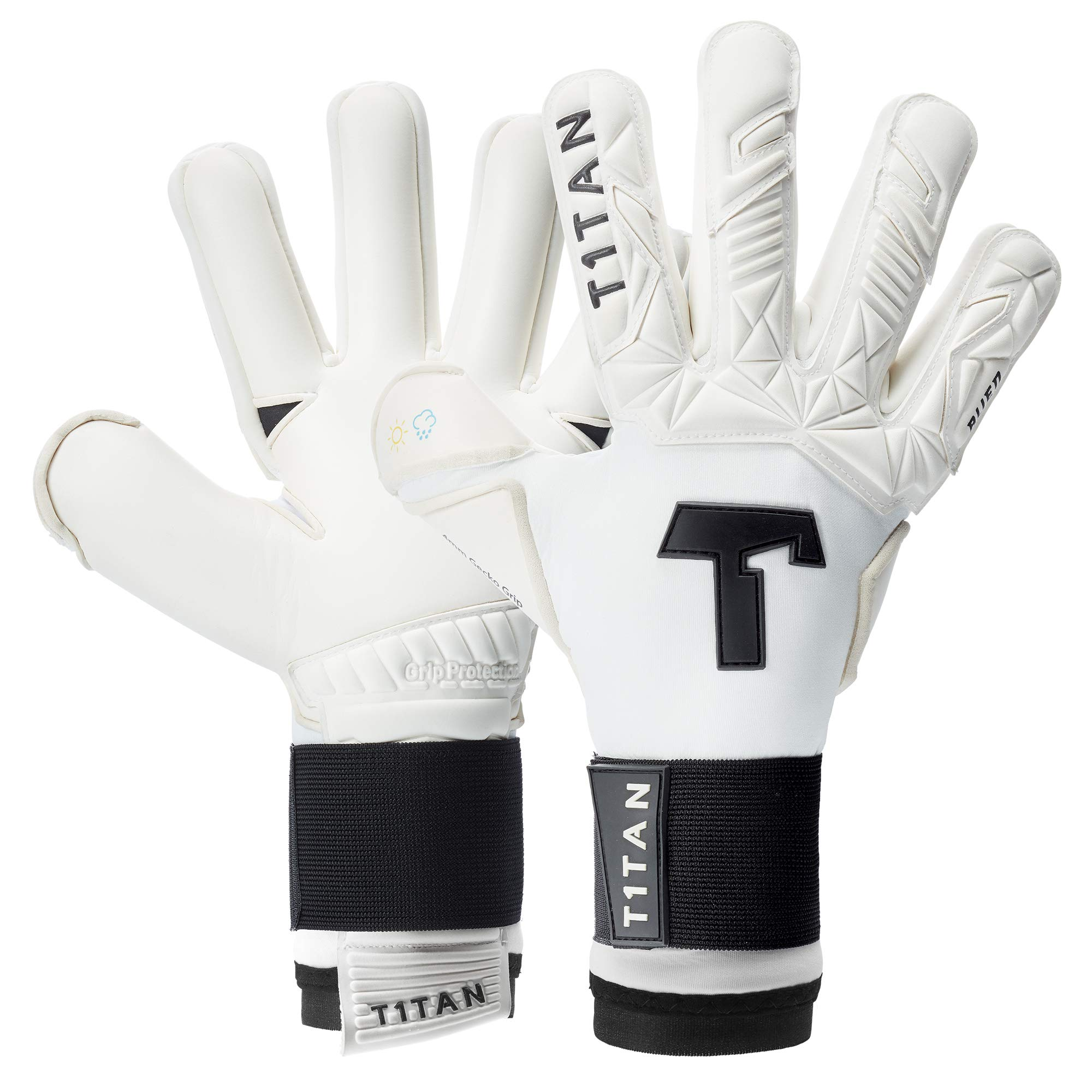 goalkeeper gloves children various sizes and colors T1TAN goalie gloves for kids negative cut soccer gloves and 4mm pro grip