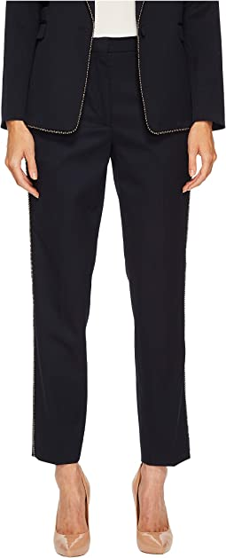 The Kooples - Trousers with Braid Detail and Gun Metal Beads