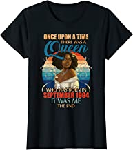 Womens Queen Was Born In September 1994 Tshirt 25th Birthday Gifts T-Shirt