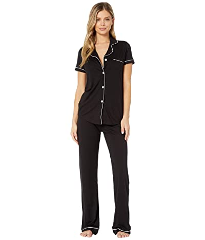 Cosabella Bella S/S Top Pant Pajama Set (Black/Ivory) Women