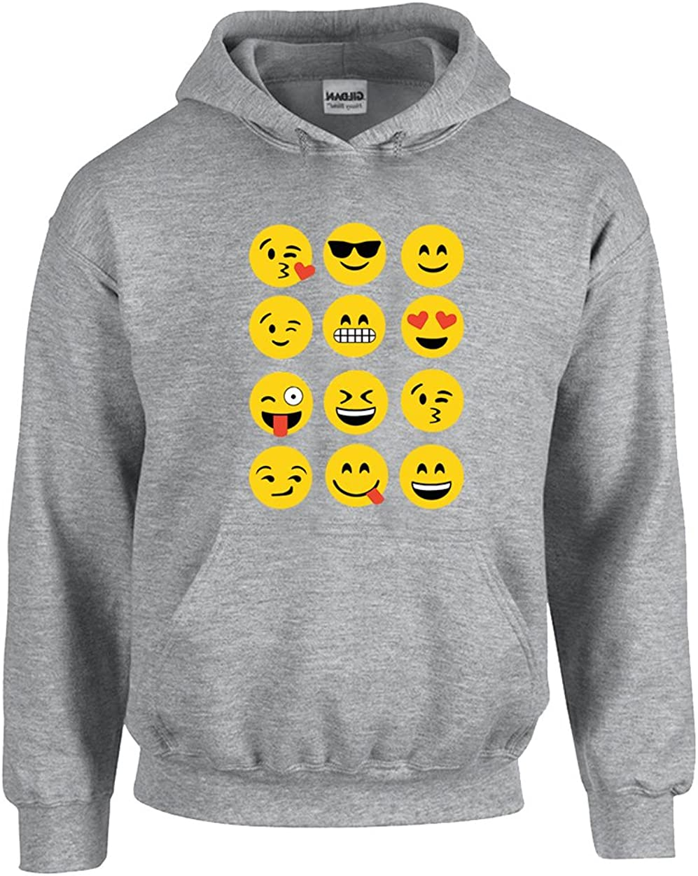 Most Popular Fees free!! Emoji Faces Cool Smile Pullover Heart Limited time trial price H Love Unisex