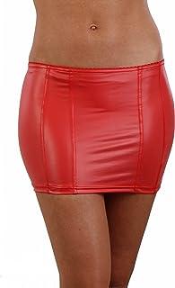 MISS NOIR Wetlook Sexy minirok (S-4XL) Vinyl PVC dames korte rok met ritssluiting Party Clubwear Rok