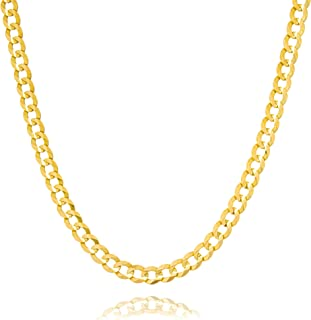 K/&C 14k Yellow Gold Italian Horn Charm on a 14K Yellow Gold Carded Rope Chain Necklace