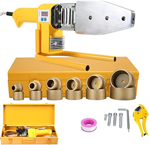 SUQIAOQIAO Fusion Welder Socket Fusion Tool Kit Digital Water Pipe Welding Machine Electric Heating Hot Melt Tools for PPR PE Tube 800W 220V