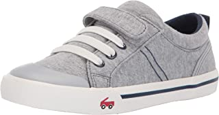 See Kai Run Boy's Tanner Sneaker, Gray/Blue Jersey, 7 M US Toddler