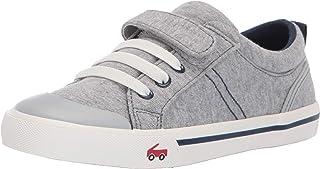 See Kai Run Boy's Tanner Sneaker, Gray/Blue Jersey, 5 M US Toddler