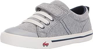 See Kai Run Boy's Tanner Sneaker, Gray/Blue Jersey,