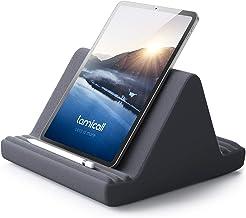 پایه بالش قرص ، نگهدارنده قرص: پایه نگهدارنده قرص نرم چند زاویه ای Lamicall برای تختخواب ، سازگار با iPad Pro 9.7 ، 10.5،12.9 Air Mini 4 3 2 ، Kindle ، Nexus ، Galaxy Tab ، E-Reader - خاکستری تیره