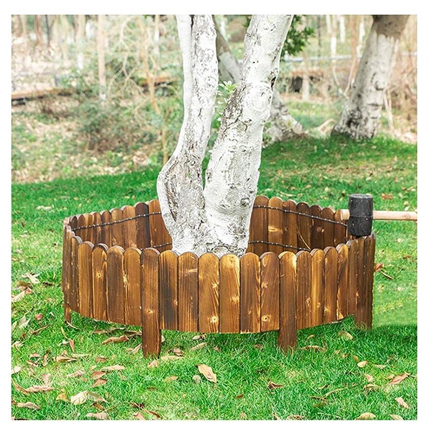 二度罰ミネラルZHANWEI 庭のフェンス ガーデンエッジ 垣 柵 風景 花壇 木 芝生 デコラティブ 無垢材 保護 ガード エッジング、 4サイズ (Color : 5pcs, Size : 100x40cm)