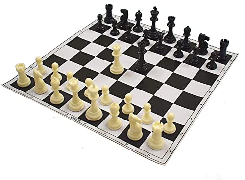 Fasherati 17 X17  noir Roll-Up Vinyl TournaHommest Chess Set