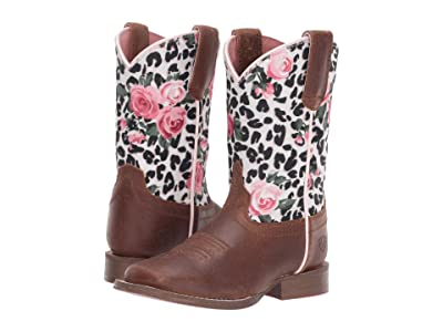 Ariat Kids Gringa Busted (Toddler/Little Kid/Big Kid) (Brown/Leopard and Roses) Cowboy Boots