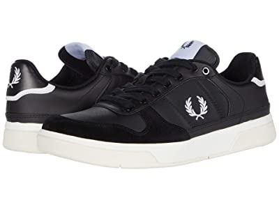 Fred Perry B300 Leather/Poly (Black/White) Men