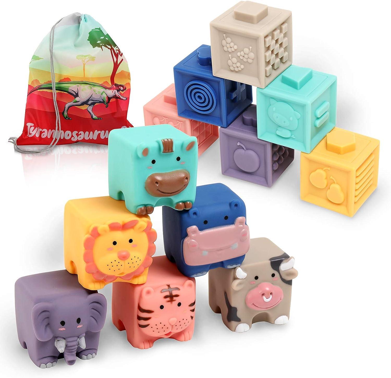 Baby Blocks Toys 6 to 12 Superlatite Blo Stacking overseas Building Months Soft