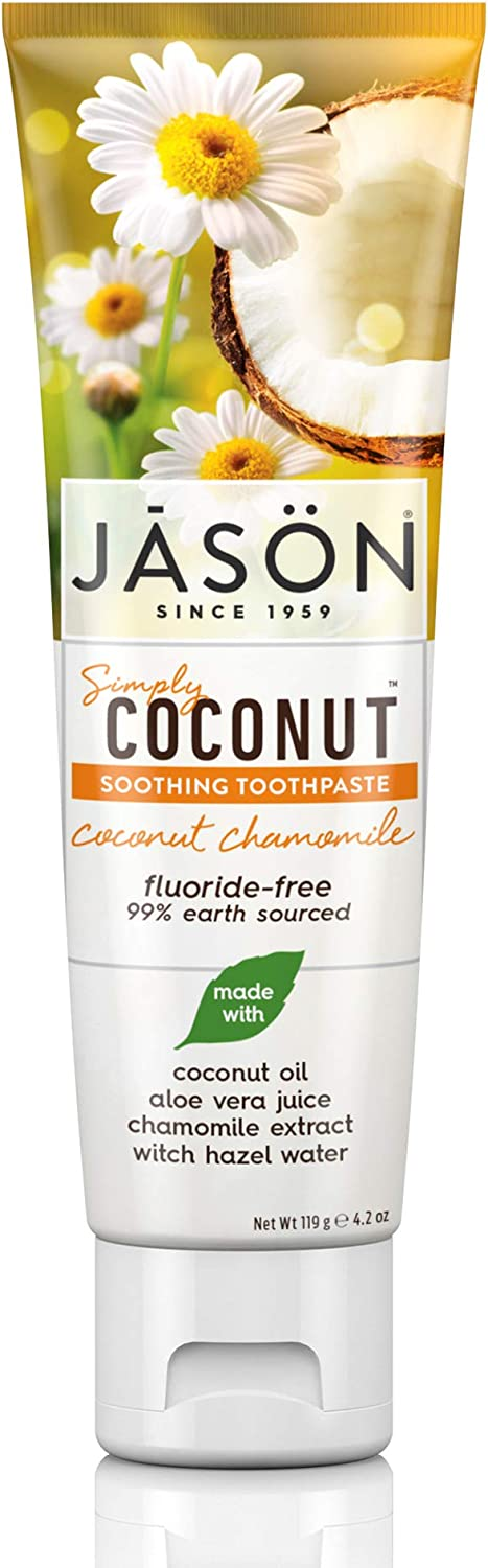 Jason free Simply Coconut Soothing Toothpaste Bargain sale Fluoride-Free