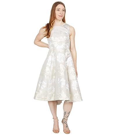 Calvin Klein Floral Print Brocade A-Line Dress Women