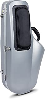 Crossrock CRA860ASSL Alto Saxophone Case-Contoured ABS Molded with Backpack Straps, Silver