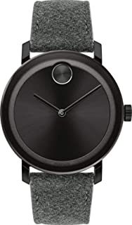 Movado Bold 3600611 Black Ion-Plated Stainless Steel Fabric Leather Men's Watch
