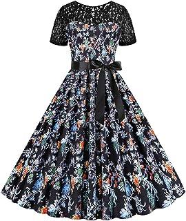 DAY8 vestiti donna Eleganti Vestito Donna Lungi da Donna Moda Pois Stampa O-Collo Patchwork Abito Nuova Moda Affascinante Banchetto Informale Maxi Vestito