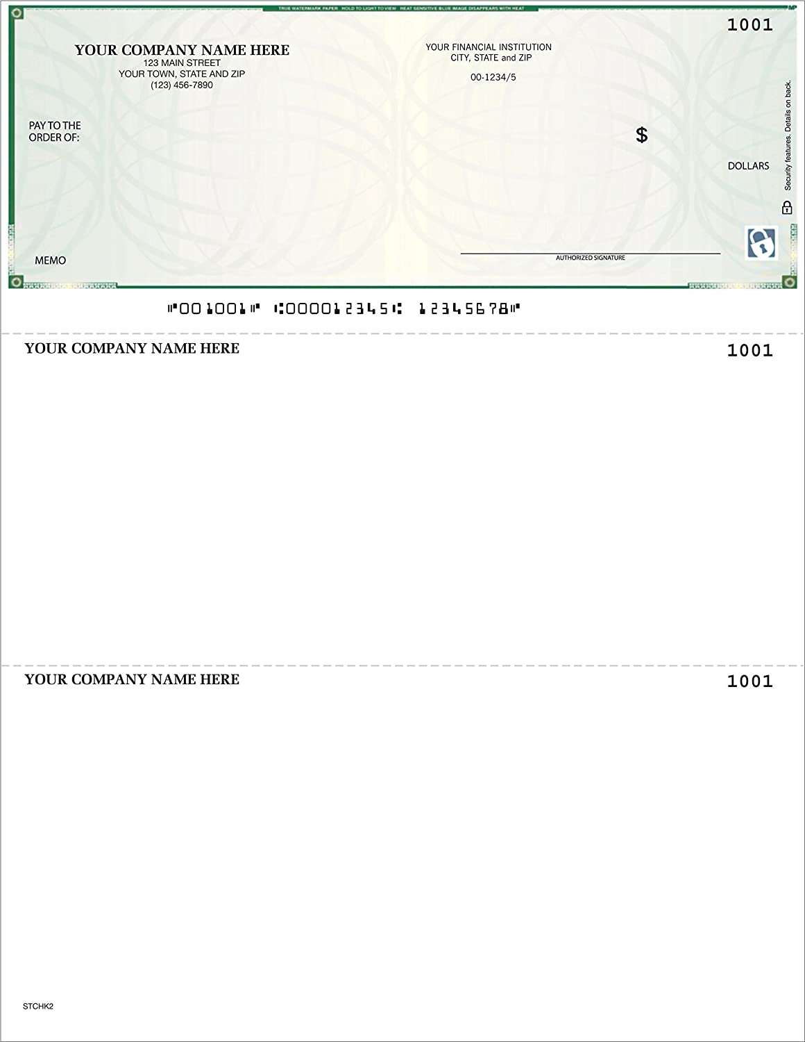 Compatible with QuickBooks 5000 Qty High Security CheckSimple Laser Business Checks - Custom 3//Page Quicken