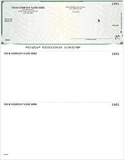 CheckSimple High Security Laser Business Checks - Compatible with QuickBooks & Quicken (500 Qty) - Custom