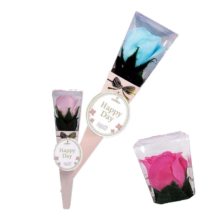 インフラ観察チョコレートバスフレグランス ミニローズブーケ ローズピンク バスフラワー ギフト お花の形の入浴剤