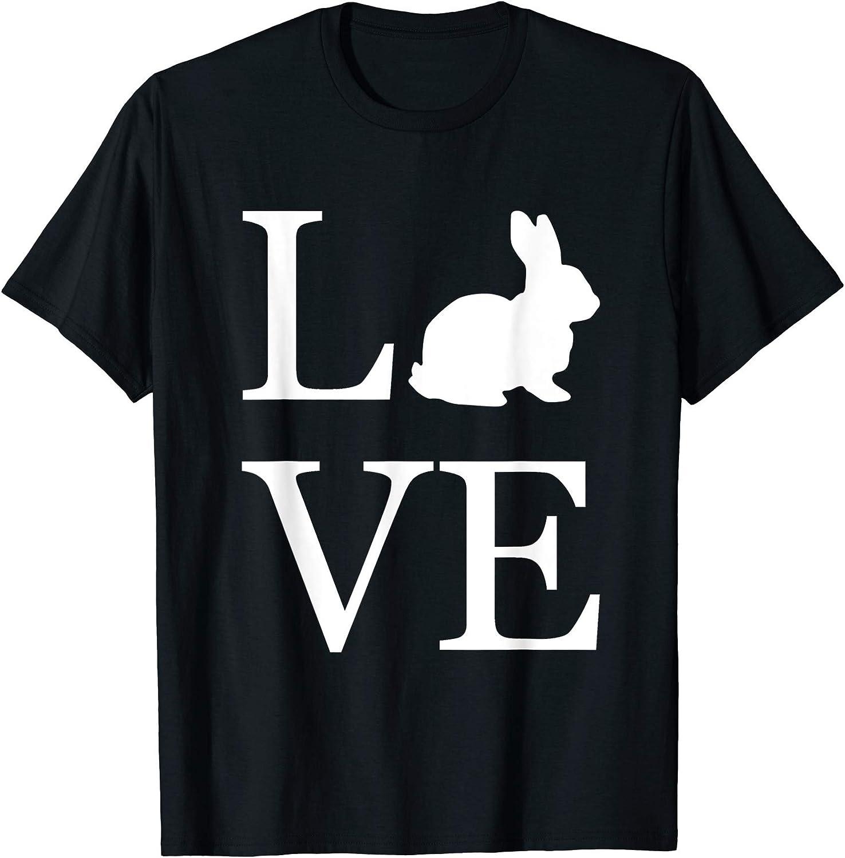 I Love Heart Hares Ladies T-Shirt