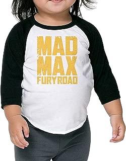 Baby Unisex 3/4 Sleeve Raglan Mad Max Fury Road Logo Baseball Shirts Tee