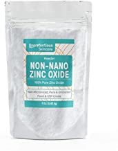 Non-Nano Zinc Oxide, 1 lb. by Unpretentious Skincare, is Naturally Occurring, Pure & Uncoated, Perfect for DIY Sunscreens ...