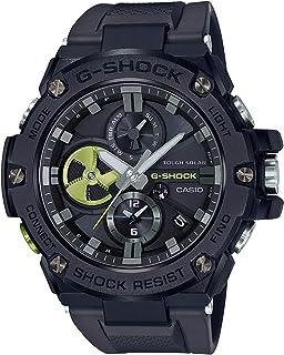G-SHOCK カシオ ジーショック スマートウォッチ G-STEEL ジースチール メタル GST-B100B-1A3 Bluetooth ブルートゥース ソーラー ブラック 黒 ライムイエロー アナログ クロノグラフ スマホリンク 同型:G...