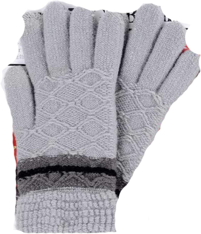 Winter Touch Screen Gloves Unisex Knit Warm Mittens Glove Men Thick Jacquard Ski Gloves Women Wrist Driving Glove Wholesale
