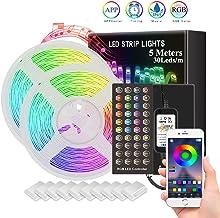ZeroPlusOne® WaterProof LED Strip Lights 5M Ultra-Long LED Lights Strip Music Sync, SMD 5050 RGB, Bluetooth App Or Control...