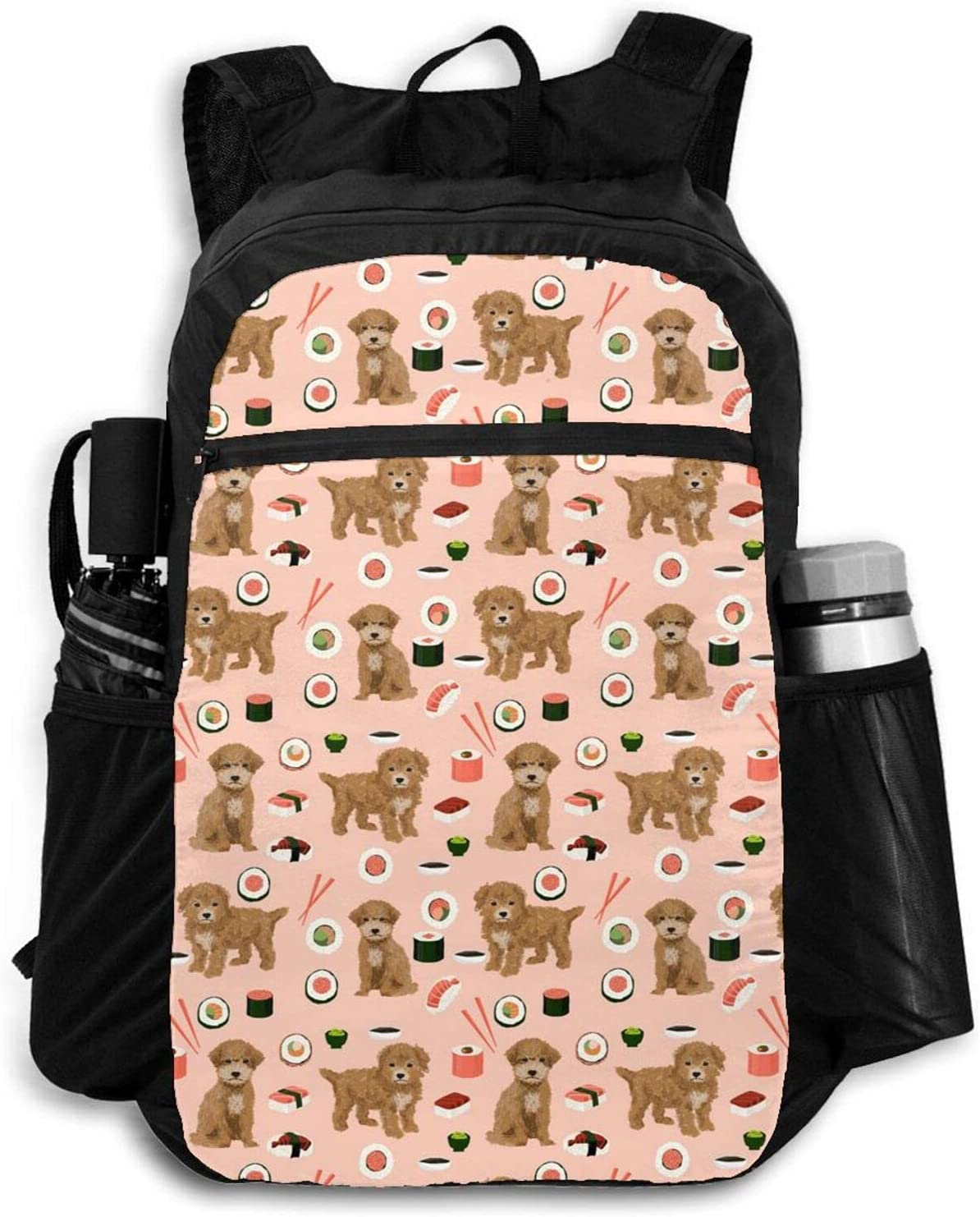 Zolama Cute Sushi Peach Backpacks Limited time cheap sale Large-scale sale for Men Women Packable Da