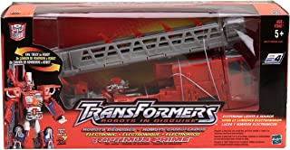 Hasbro Transformers RID Robots in Disguise Deluxe Electronic Light & Sound Optimus Prime Fire Truck (2001