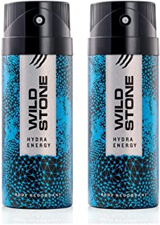 Wild Stone Hydra Energy Deodorant Combo for Men, Pack of 2 (150ml each)