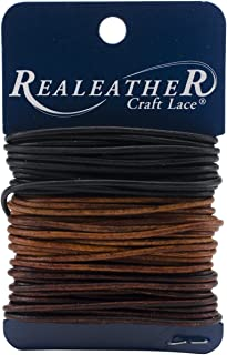 Realeather Crafts Round Leather Lace 2mmX8yd Carded