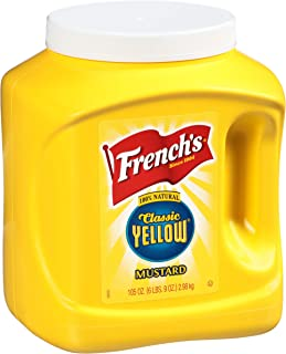 French's Classic Yellow Mustard, 105 oz - One 105 Ounce Bulk Container of Tangy and Creamy Yellow Mustard Perfect for Prof...