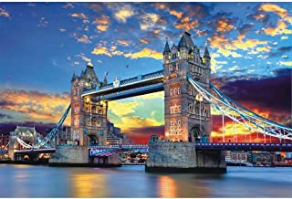 Tomoving 1000 Pieces Jigsaw Puzzles for Adults Puzzles 1000 Piece Jigsaws for Adults Puzzle Adult London Tower Bridge Diff...