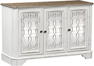 Liberty Furniture Industries Magnolia Manor TV Console, W51 x D18 x H32, White