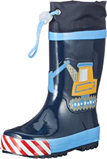 Playshoes Boys Wellies Building Site, Botas de Lluvia Niños