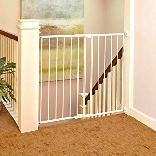 """North States 47.85"""" Tall Easy Swing and Lock Baby Gate: Ideal for stairways, swings to self-lock. Hardware mount. Fits 28.68""""-47.85"""" wide (36"""" tall, Soft White)"""