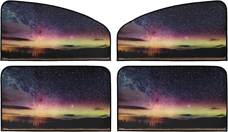 Aurora Borealis Night Car Sun Shade Pack OFFicial mail Spasm price order Summer Insulation Uni 4
