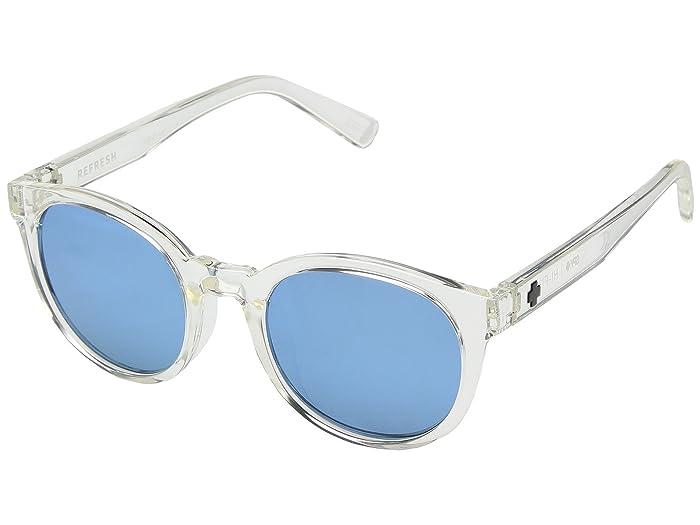 Spy Optic Fizz (Matte Black/Matte Crystal/Gray/Light Blue Spectra) Sport Sunglasses