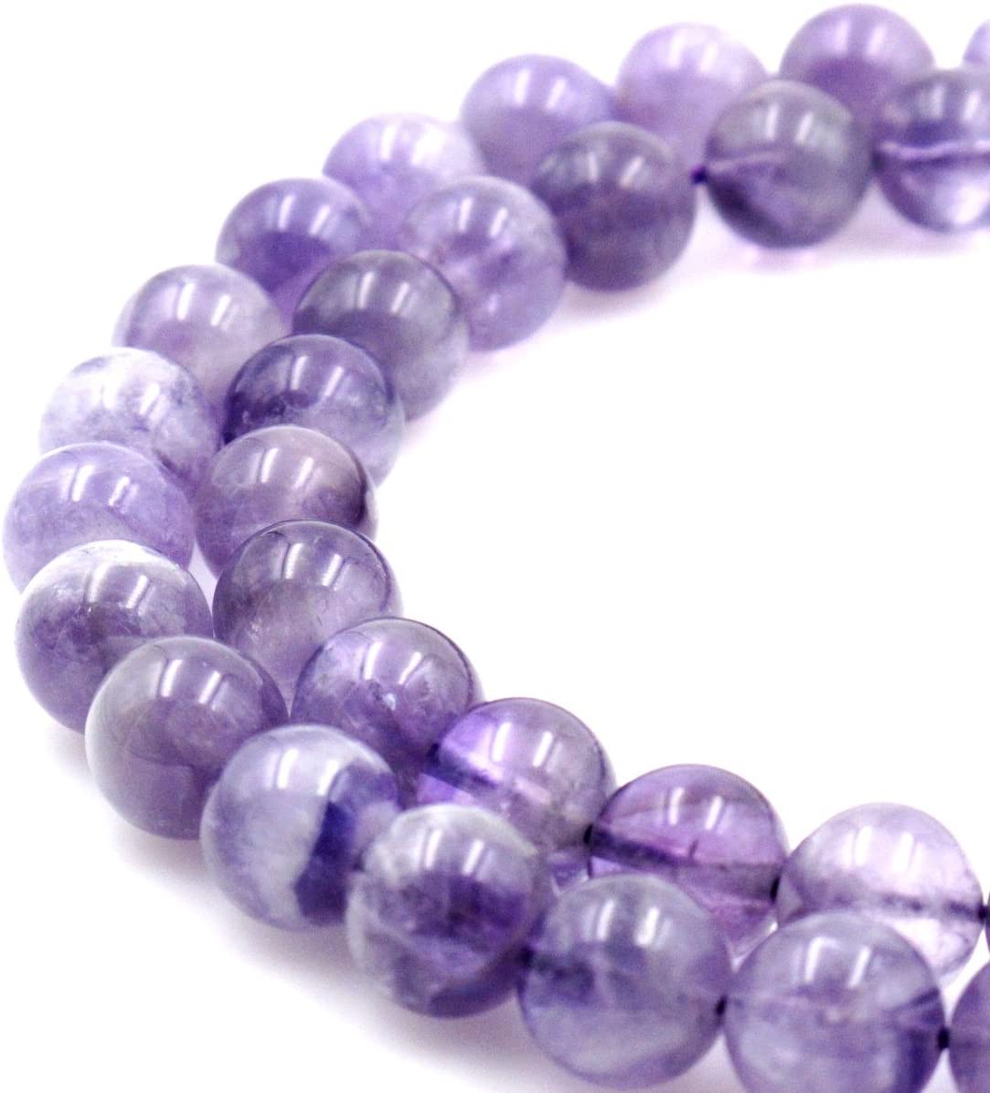 BRCbeads Natural Light Max 44% OFF Purple Ranking TOP13 Amethyst Round Loose Bead Gemstone