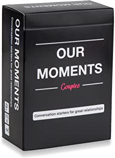 OUR MOMENTS Couples: 100 Thought Provoking Conversation Starters for Great Relationships - Fun Conversation Cards Game for...